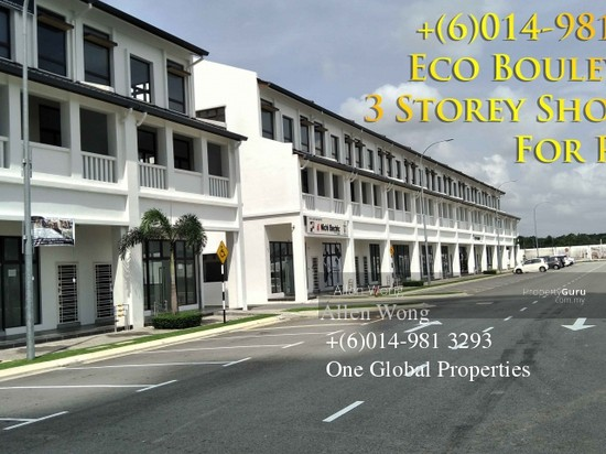 Eco Boulevard - 3 Storey Shoplot@Eco Botanic For RENT Eco Boulevard - 3 Storey Shoplot@Eco Botanic For R 118441562