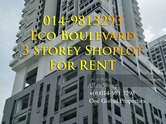 Eco Boulevard - 3 Storey Shoplot@Eco Botanic For RENT Eco Boulevard - 3 Storey Shoplot@Eco Botanic For R 118441598