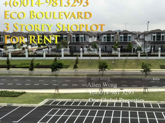 Eco Boulevard - 3 Storey Shoplot@Eco Botanic For RENT Eco Boulevard - 3 Storey Shoplot@Eco Botanic For R 118496654