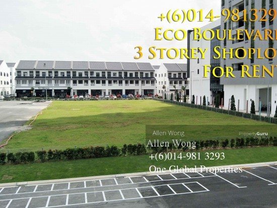 Eco Boulevard - 3 Storey Shoplot@Eco Botanic For RENT Eco Boulevard - 3 Storey Shoplot@Eco Botanic For R 118496723