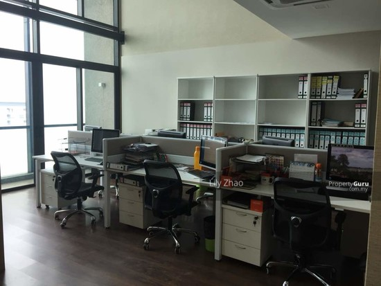 Luxury Ready Office | Renovated ,Fully Furnished | Duplex unit | Top Floor | Riverson SOHO | KK City  125584565