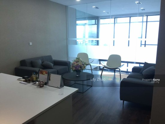 Luxury Ready Office | Renovated ,Fully Furnished | Duplex unit | Top Floor | Riverson SOHO | KK City  125584595