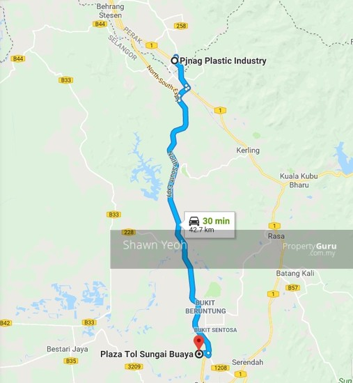 30-min via PLUS highway fr Tg Malim Ind Park to New 2-Storey Factory  132055831
