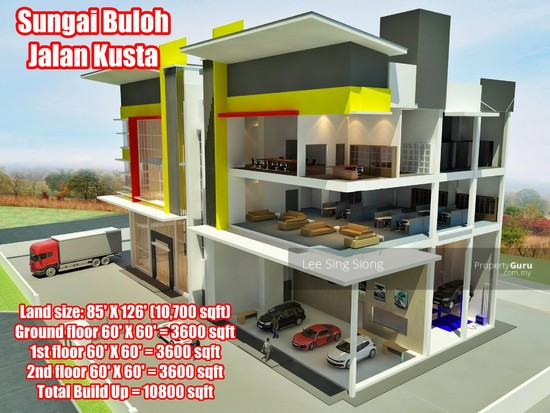 Sungai Buloh Factory Showroom For RENT  134049803