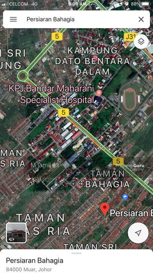 Bungalow Lot Muar Persiaran Bahagia Muar Location by Maps  134650622