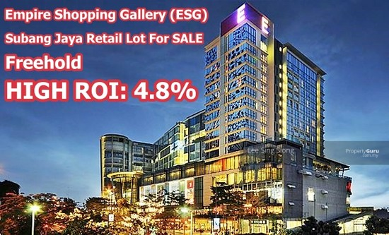 ROI 4.8% Subang Empire Shopping Retail Lot  138335484