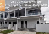 24x70 New Launch Double Storey ,The Woodlands Horizon Hills - Property For Sale in Malaysia