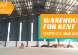 BUKIT JELUTONG, SHAH ALAM  SEKSYEN U16 NEW TWIN WAREHOUSES HIGH SPECIFICATIONS WATER SPRINKLERS ETC - Property For Rent in Malaysia