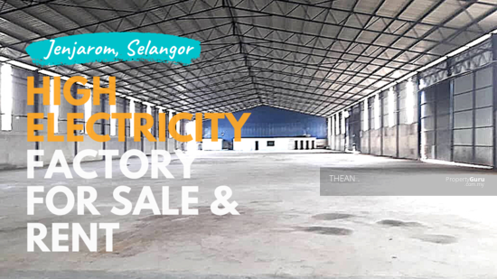 JENJAROM JALAN BANTING KLANG FACTORIES WITH HIGH ELECTRICITY SUPPLY BIG LAND FACTORY FOR SALE IN JENJAROM WITH HIGH ELECTRICITY SUPPLY 149497734