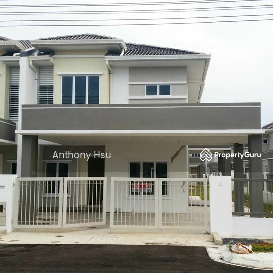 New corner double storey terrace tabuan kuching tabuan for Home design johor bahru