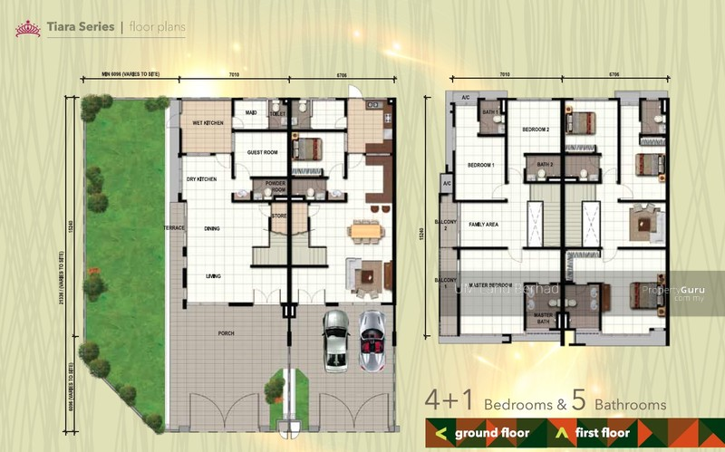 Emerald residenz freehold 2 storey terrace tiara series for Terrace house series