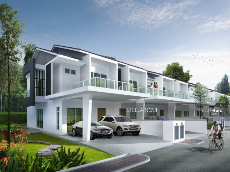 Modern design 2 storey superlink house dengkil dengkil for 2 storey house for sale