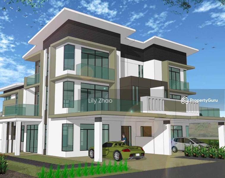 3 storey terrace corner likas jalan tuaran likas for 3 storey terrace house design