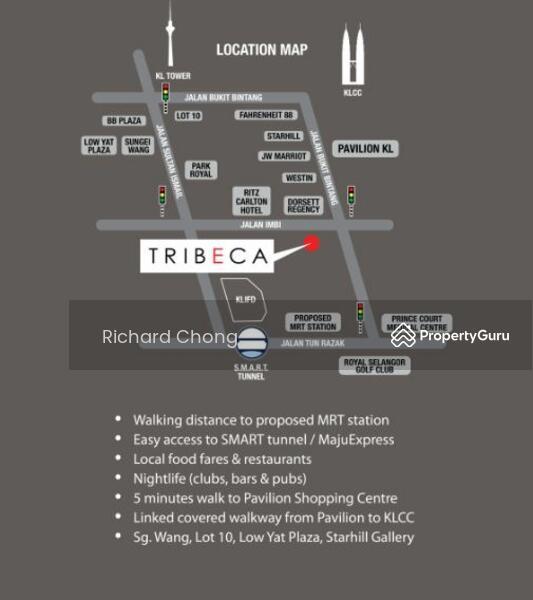 Tribeca Apartments For Rent: Tribeca Bukit Bintang, Jalan Imbi Off Jalan Bukit Bintang