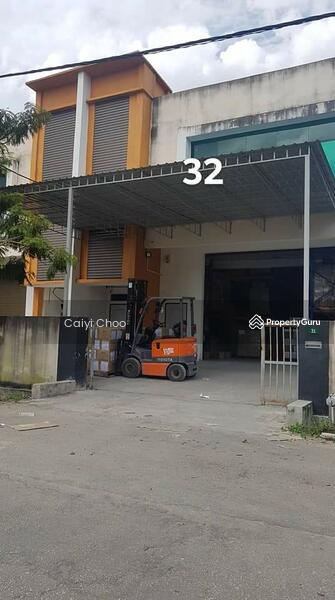 1.1/2 sty semidetached factory  tenanted in kaw perindustrian pengkalan #129454431