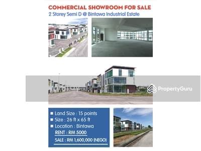 For Sale - 2 Storey Semi D Commercial Showroom at Bintawa Industrial Estate Kuching