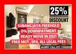 【0% DP】25% DISCOUNT, FREE MOT, 2021 READY Only 1k Booking SUBANG JAYA CONDO FREEHOLD