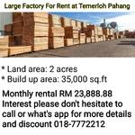 Factory For Rent at Temerloh