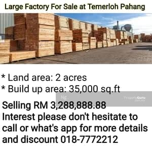 For Sale - Factory For Sale at Temerloh