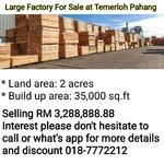 Factory For Sale at Temerloh