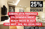 【0% DP READY 2021】25% Discount FREE MOT, Only 1k Booking SUBANG JAYA CONDO FREEHOLD