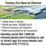 Factory For Rent at Chemor