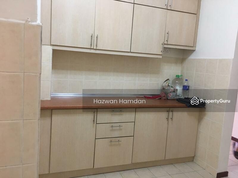 Kitchen area with kitchen cabinet