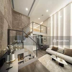 For Sale - Designer Duplex | 80% Furnished + Reno | 3 Rooms 2 Bathroom | Next to MRT & Mall