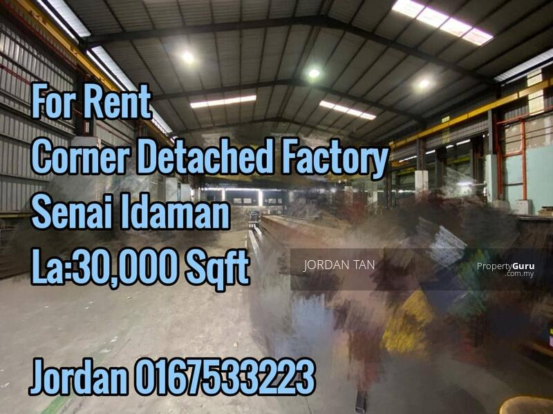 Senai Idaman industrial @ Corner Detached Factory For Rent #157831007