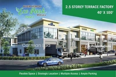 For Sale - 2 Storey Terrace Factory @ Ayer Keroh Eco Park