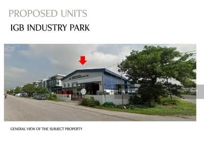 For Rent - Factory For Rent Kawasan Perindustrian IGB
