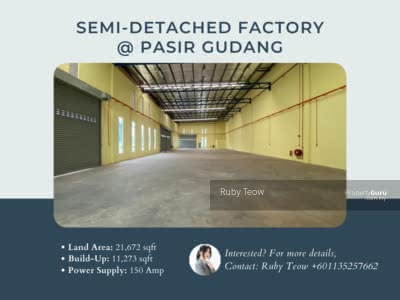 For Sale - Pasir Gudang Semi Detached Factory