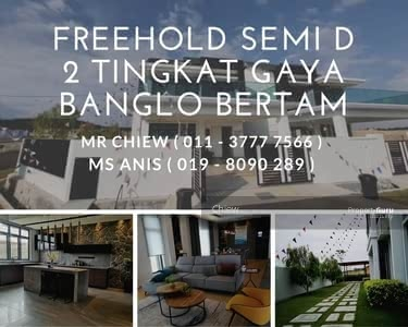 For Sale - Freehold Semi D 2 Tingkat Rekabentuk Banglo Mewah Bertam
