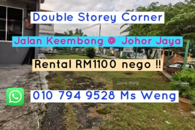 For Rent - Johor Jaya Double Storey Corner