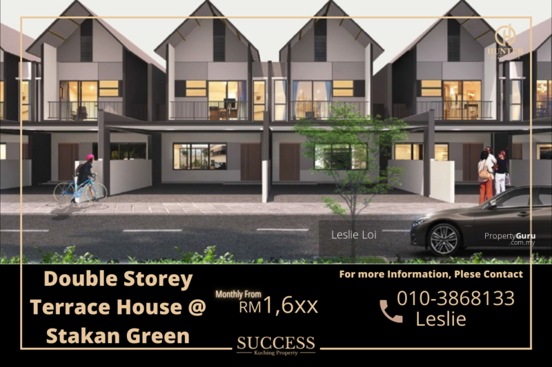 New Gated Guarded Double Storey Terrace House @ Stakan Green, Muara Tuang #168039283