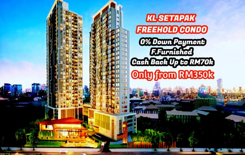 KL Setapak FREEHOLD 0 Downpayment Fully Furnished CASHBACK 60K Ready Move In Soon #163797437