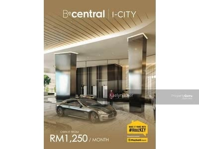 For Sale - RM1250 NO DOWNPATMENT New Project Beside i-Central I-City ONLY! !! 2R1B