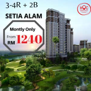 For Sale - (FULLY FURNISH & 0% DOWNPAYMENT)HIGHEND doorstep to SHOPPING MALL HIGHEND 2R1B CONDO IN SETIA ALAM
