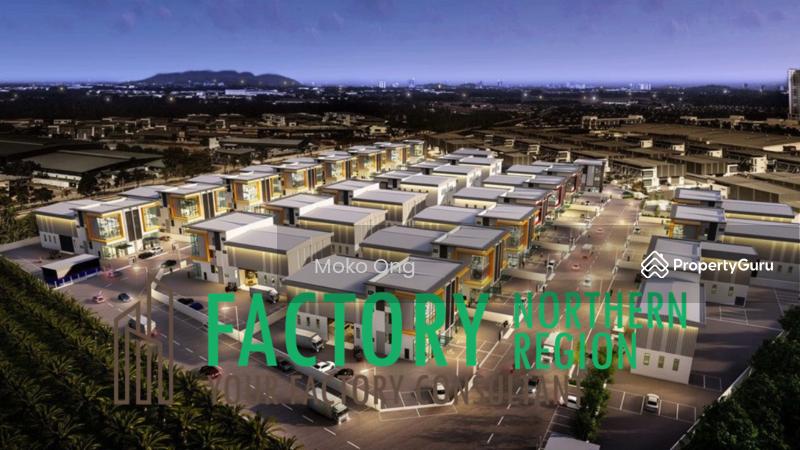 Light Industry Semi Detached Factory #164581383