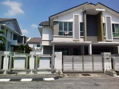 For Rent - GATED& GUARDED Intermediate Corner 2 Stry Terrace@Meru Desa Park