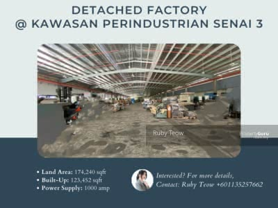 For Sale - Kawasan Perindustrian Senai 3 Detached Factory