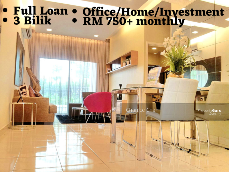 Full Loan【Own Stay | Investment | Office】Balakong New House 3 Room with Full Tiles Corner 1200sf #164985927