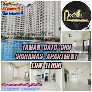 For Sale - TAMAN DATO ONN SURIAMAS APARTMENT LOW FLOOR FULL LOAN JOHOR BAHRU