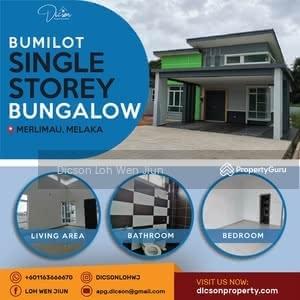 Dijual - Single Storey Bungalow at Merlimau