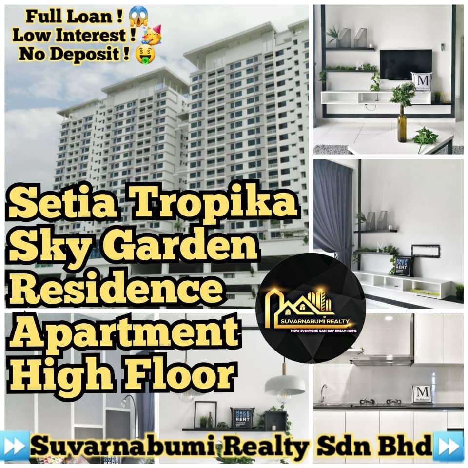 For Sale - SETIA TROPIKA SKY GARDEN RESIDENCE APARTMENT HIGH FLOOR FULL LOAN JOHOR BAHRU