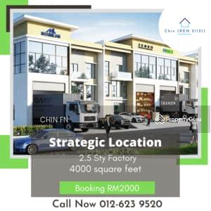 For Sale - 2. 5 Sty Factory Booking RM2000 Ayer Keroh Ozana Eco Park Melaka