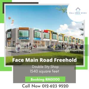 For Sale - Face Main Road Freehold Shop Booking RM5K Vista Belimbing Durian Tunggal Melaka