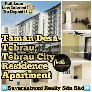 For Sale - TAMAN DESA TEBRAU, TEBRAU CITY RESIDENCE APARTMENT FULL LOAN JOHOR BAHRU