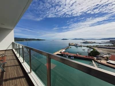 For Rent - Jesselton Residence High End Condo | Sea View | Fully Renovated , Fully Furnished | KK City