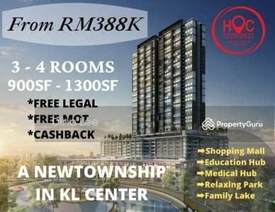 For Sale - setapak, new township, 0% down payment, 5min to duke, 13min to klcc, cashback rm13k